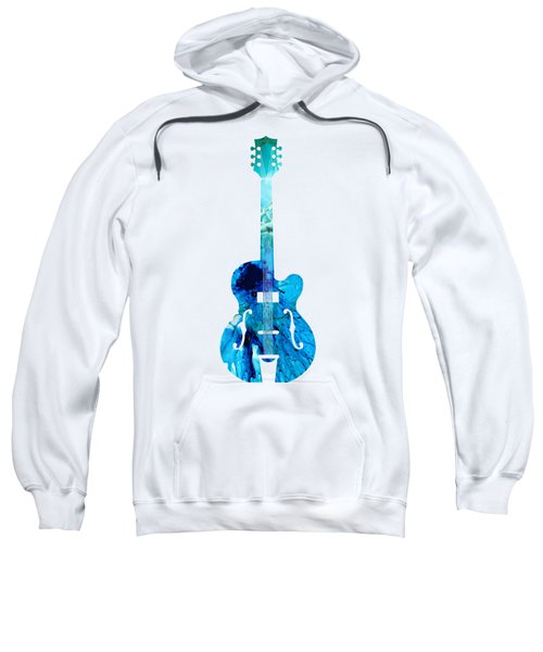 Vintage Guitar 2 - Colorful Abstract Musical Instrument Sweatshirt by Sharon Cummings