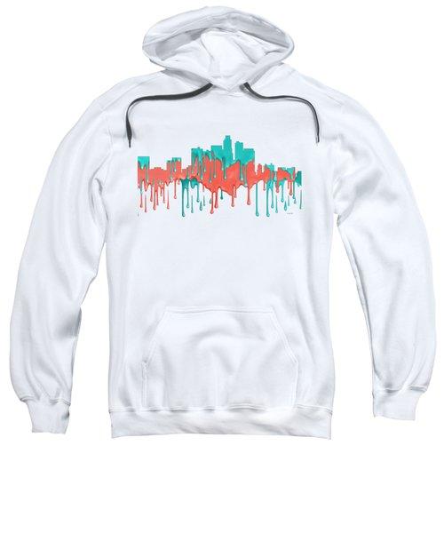Los Angeles California Skyline Sweatshirt by Marlene Watson