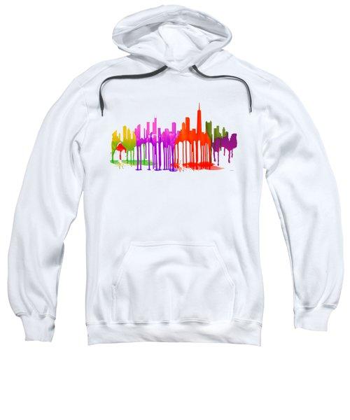 Chicago Illinois Skyline Sweatshirt by Marlene Watson