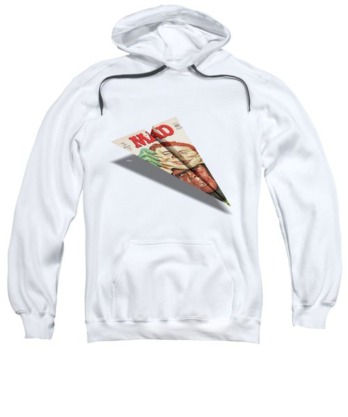157 Mad Paper Airplane Sweatshirt by YoPedro