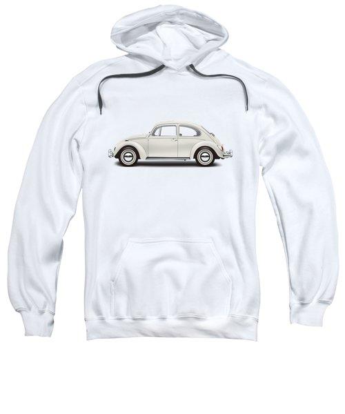 1966 Volkswagen 1300 Sedan - Pearl White Sweatshirt by Ed Jackson