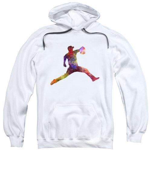 Baseball Player Throwing A Ball Sweatshirt by Pablo Romero