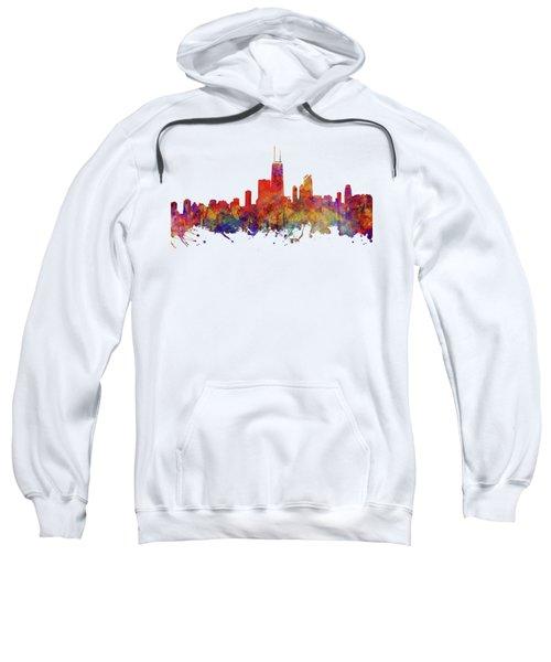 Chicago Sweatshirt by JW Digital Art
