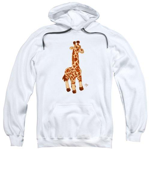 Cuddly Giraffe Sweatshirt by Angeles M Pomata