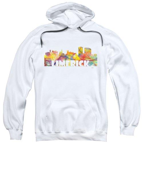 Limerick Ireland Skyline Sweatshirt by Marlene Watson
