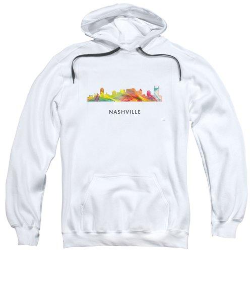Nashville Tennessee Skyline Sweatshirt by Marlene Watson
