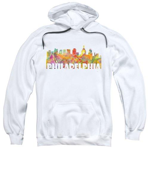 Philadelphia Pennsylvania Skyline Sweatshirt by Marlene Watson