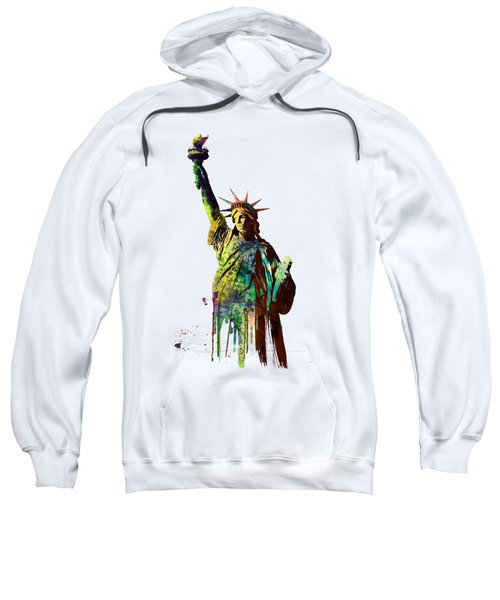 Statue Of Liberty Sweatshirt by Marlene Watson