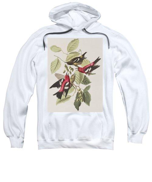 White-winged Crossbill Sweatshirt by John James Audubon