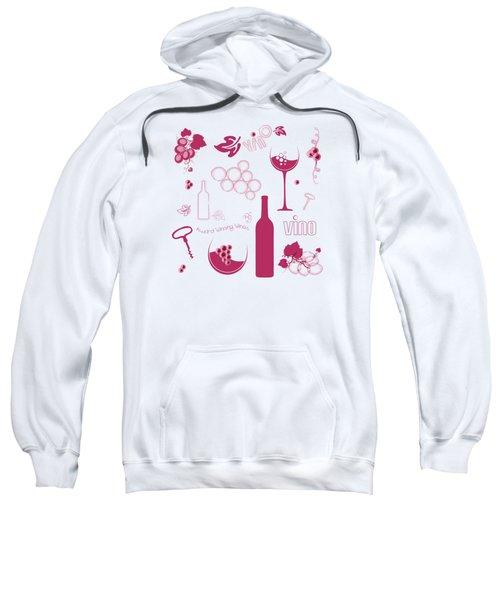 Wine Background Pattern Sweatshirt by Serena King