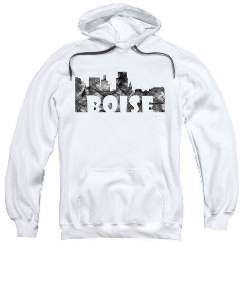 Boise Idaho Skyline Sweatshirt by Marlene Watson