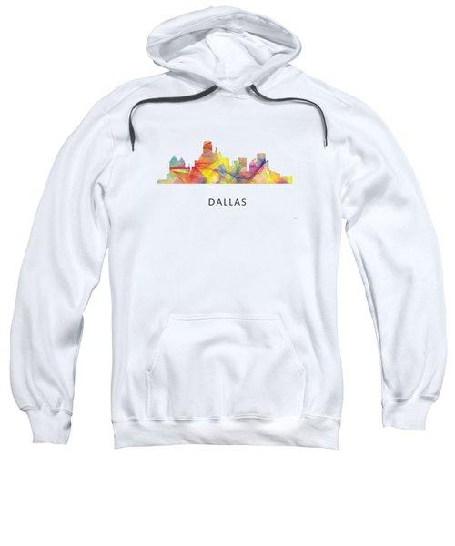 Dallas Texas Skyline Sweatshirt by Marlene Watson