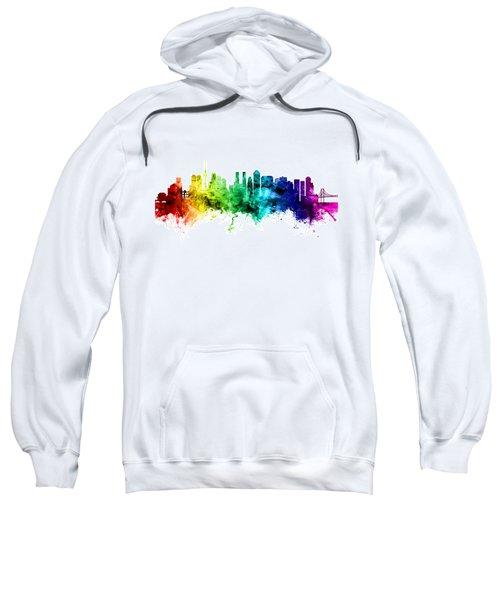Tokyo Japan Skyline Sweatshirt by Michael Tompsett
