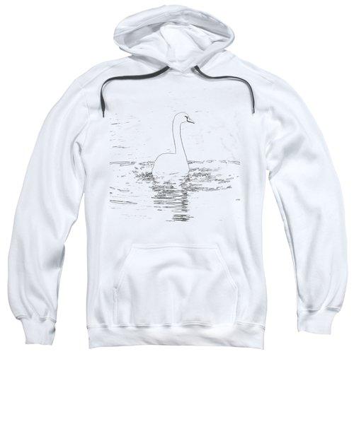 White Swan Swimming  Sweatshirt by Humorous Quotes