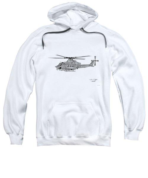 Bell Helicopter Uh-1y Venom Sweatshirt by Arthur Eggers