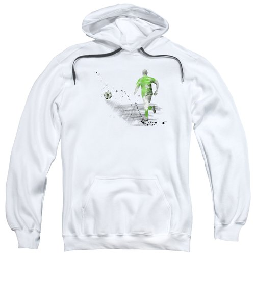 Football Player Sweatshirt by Marlene Watson