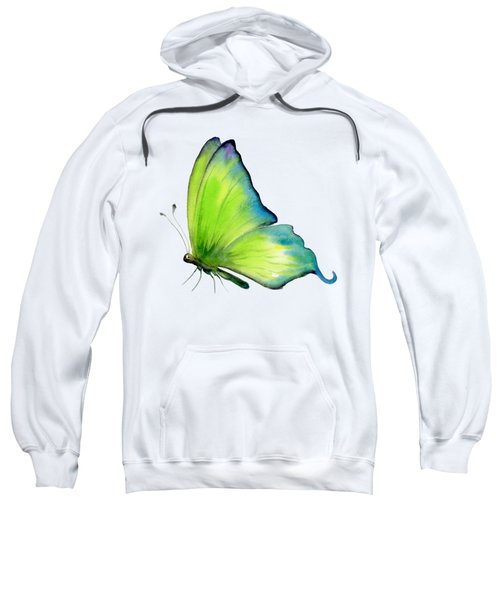 4 Skip Green Butterfly Sweatshirt by Amy Kirkpatrick