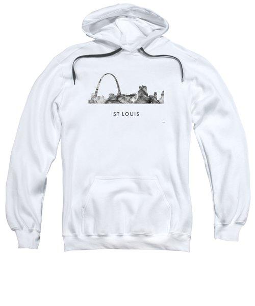 St Louis Missouri Skyline Sweatshirt by Marlene Watson