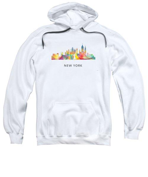New York Skyline Sweatshirt by Marlene Watson