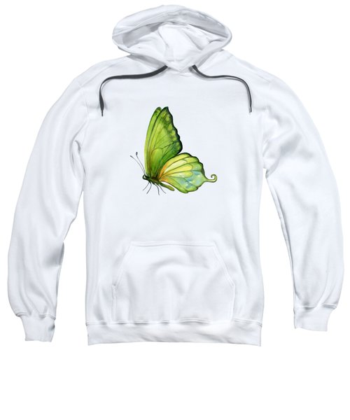 5 Sap Green Butterfly Sweatshirt by Amy Kirkpatrick