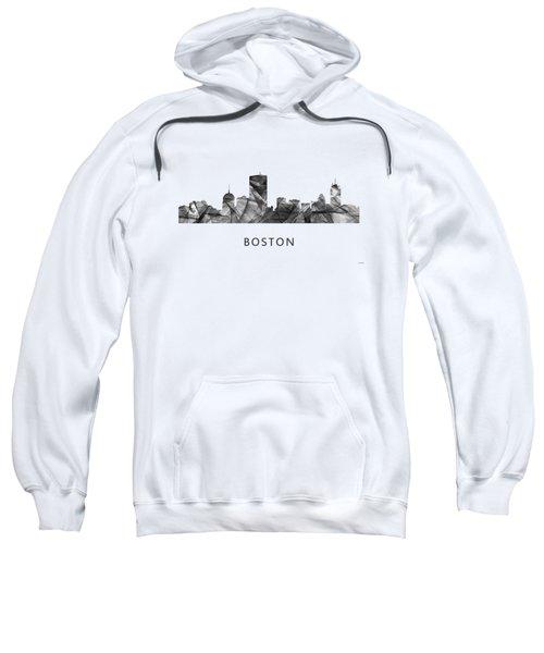 Boston Massachusetts Skyline Sweatshirt by Marlene Watson