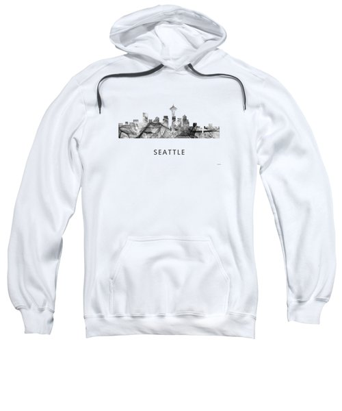Seattle Washington Skyline Sweatshirt by Marlene Watson