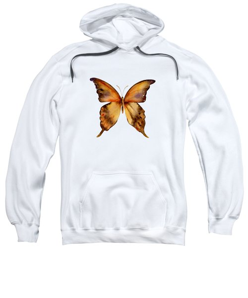 7 Yellow Gorgon Butterfly Sweatshirt by Amy Kirkpatrick