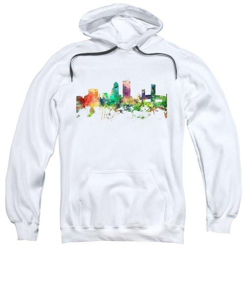 Jacksonville Florida Skyline Sweatshirt by Marlene Watson