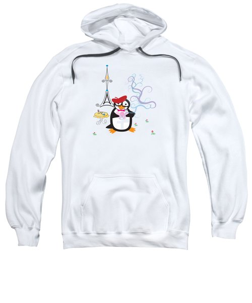 A Penguin In Paris Sweatshirt by Jane E Rankin