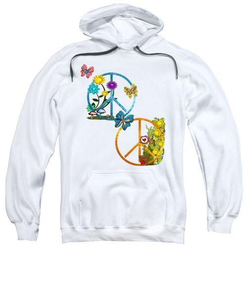 A Very Hippy Day Whimsical Fantasy Sweatshirt by Sharon and Renee Lozen