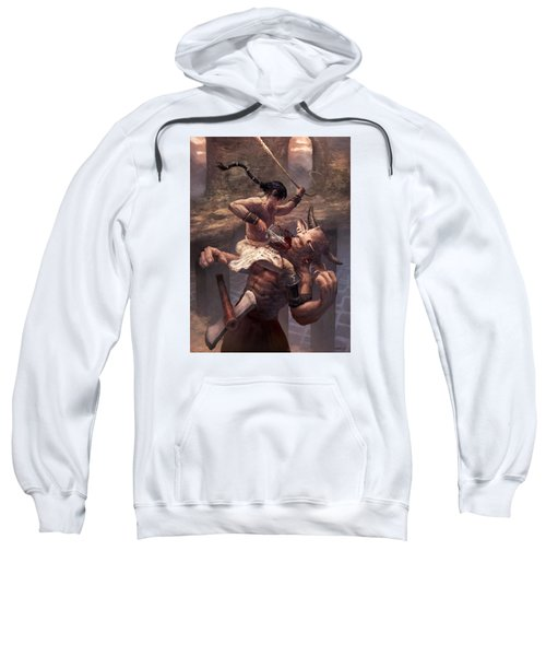 Above The Labyrinth  Sweatshirt by Ethan Harris