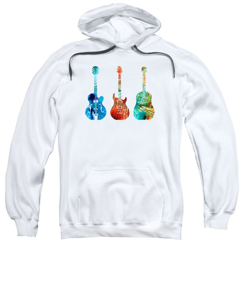 Abstract Guitars By Sharon Cummings Sweatshirt by Sharon Cummings