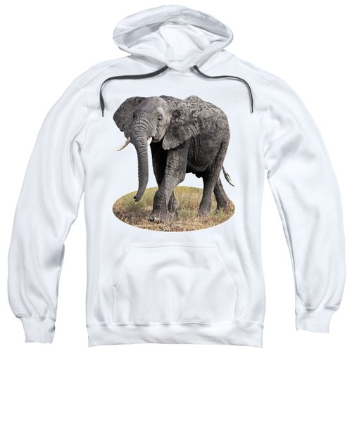 African Elephant Happy And Free Sweatshirt by Gill Billington