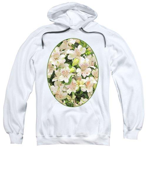 Alluring Alstroemeria - Peruvian Lilies Sweatshirt by Gill Billington