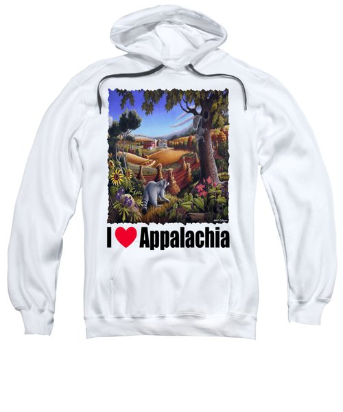 Amish Country - Coon Gap Holler Country Farm Landscape Sweatshirt by Walt Curlee