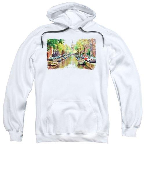 Amsterdam Canal 2 Sweatshirt by Marian Voicu
