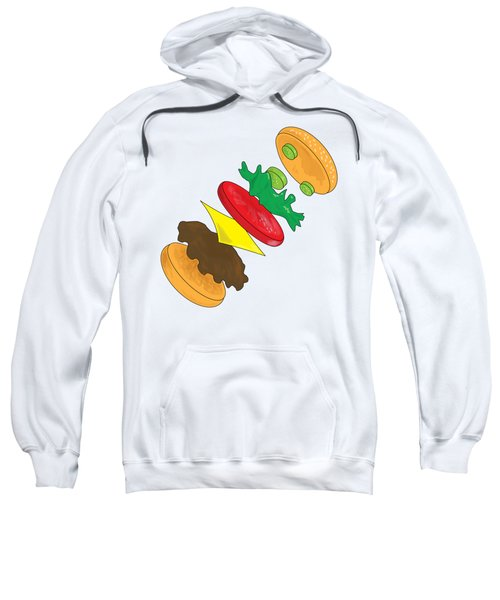 Anatomy Of Cheeseburger Sweatshirt by Ben Shurts