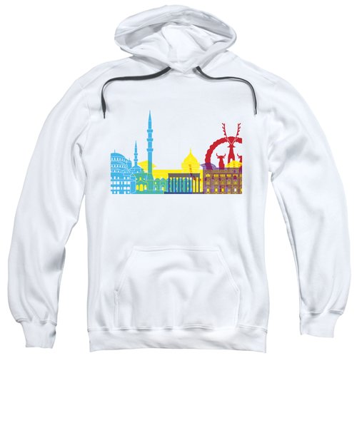 Ankara Skyline Pop Sweatshirt by Pablo Romero