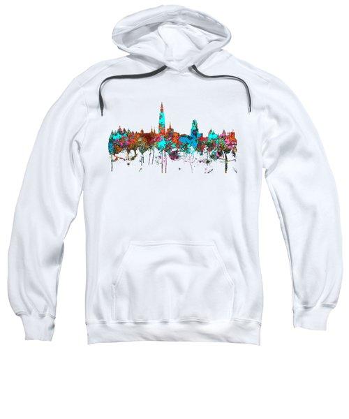 Antwerp Belgium Skyline Sweatshirt by Marlene Watson