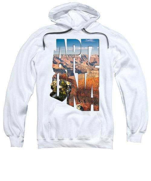 Arizona Typography - Grand Canyon At Sunset Sweatshirt by Gregory Ballos