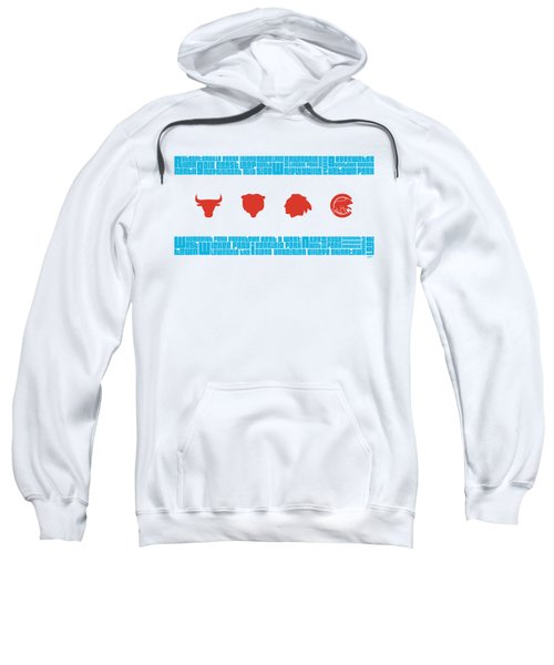 Chicago Flag Sports Teams Sweatshirt by Mike Maher