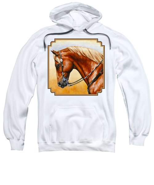 Precision - Horse Painting Sweatshirt by Crista Forest