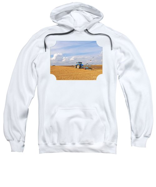 Ploughing After The Harvest Sweatshirt by Gill Billington