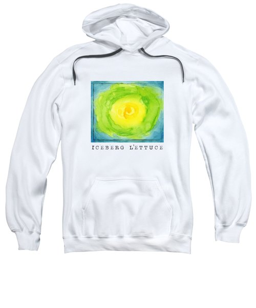 Abstract Iceberg Lettuce Sweatshirt by Kathleen Wong