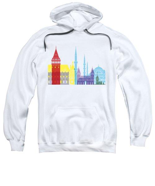 Istanbul Skyline Pop Sweatshirt by Pablo Romero