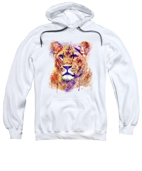 Lioness Head Sweatshirt by Marian Voicu