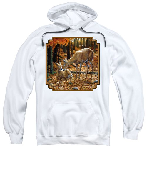Whitetail Deer - Autumn Innocence 2 Sweatshirt by Crista Forest