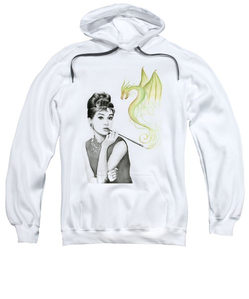 Audrey And Her Magic Dragon Sweatshirt by Olga Shvartsur