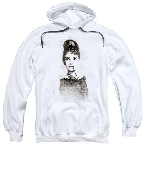 Audrey Hepburn Portrait 01 Sweatshirt by Pablo Romero