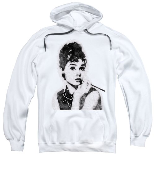 Audrey Hepburn Portrait 04 Sweatshirt by Pablo Romero